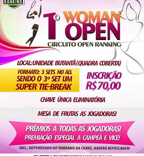 1º WOMAN Open de Tênis