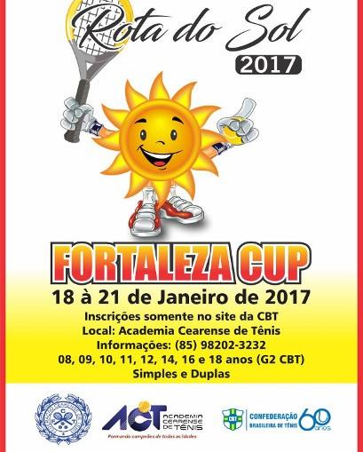 Tênis Rota do Sol 2017 - FORTALEZA CUP